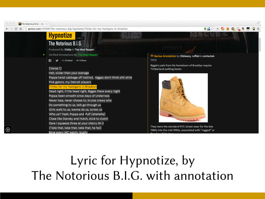 Lyric for Hypnotize, by The Notorious B.I.G. wi...