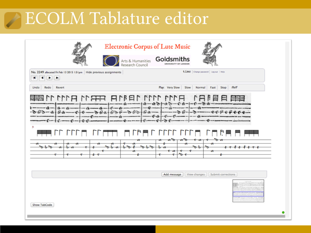 ECOLM Tablature editor
