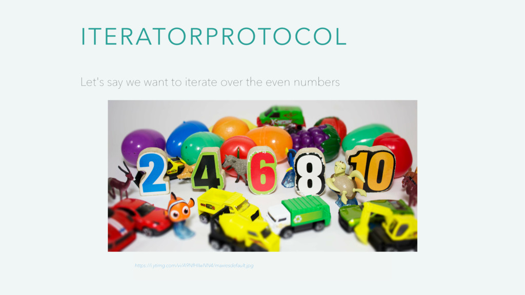 ITERATORPROTOCOL Let's say we want to iterate o...