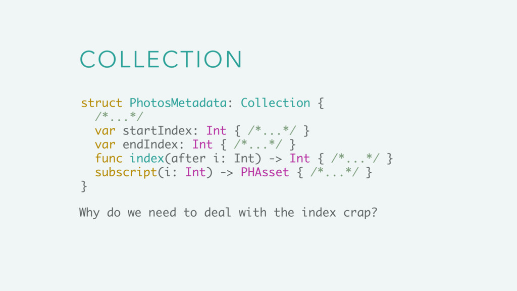 COLLECTION Why do we need to deal with the inde...