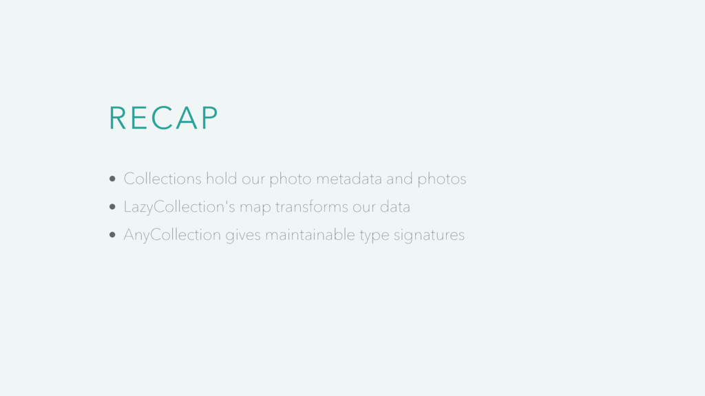 RECAP Collections hold our photo metadata and p...