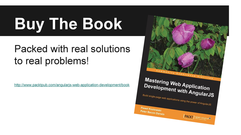 Buy The Book Packed with real solutions to real...