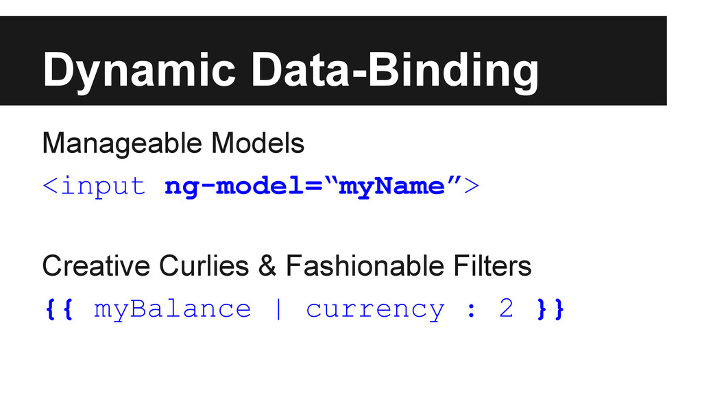 Dynamic Data-Binding Manageable Models <input n...