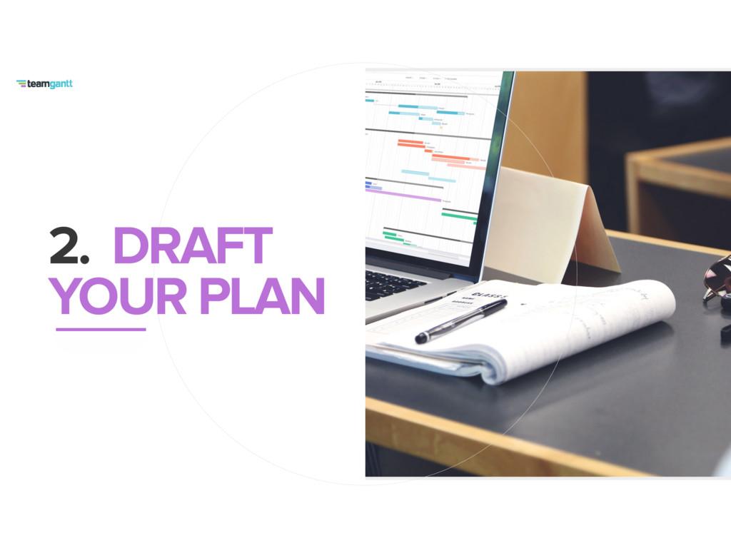 2. DRAFT YOUR PLAN