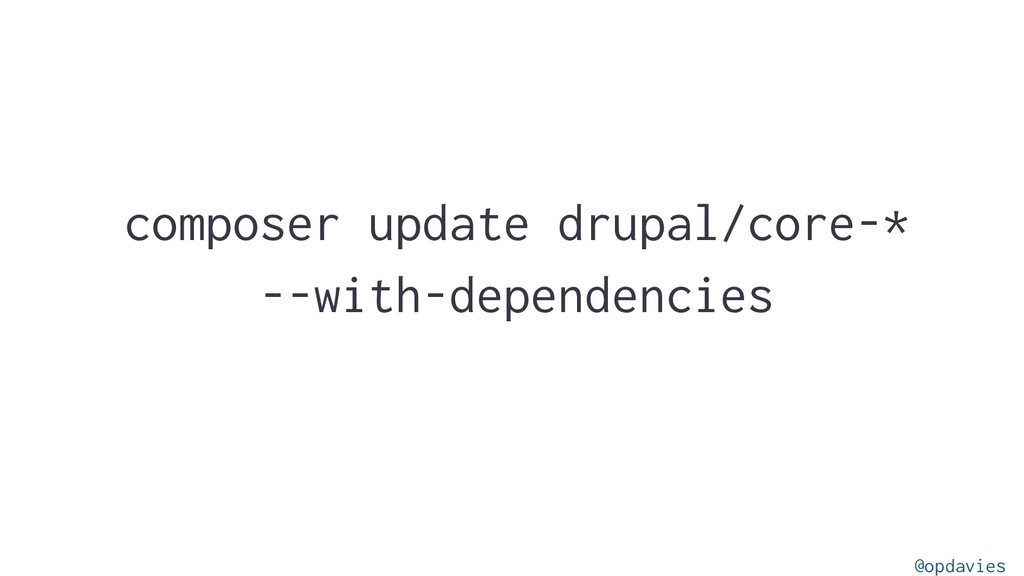 composer update drupal/core-* --with-dependenci...