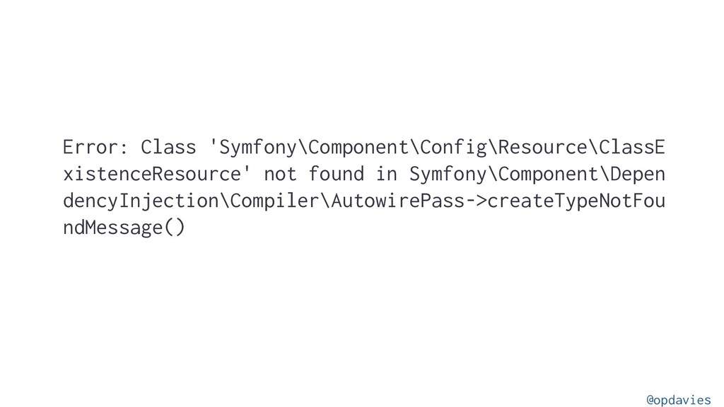 Error: Class 'Symfony\Component\Config\Resource...