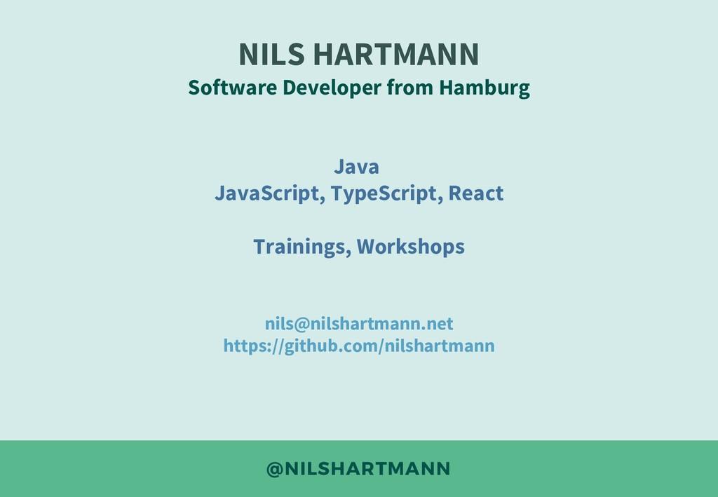 @NILSHARTMANN NILS HARTMANN Software Developer ...