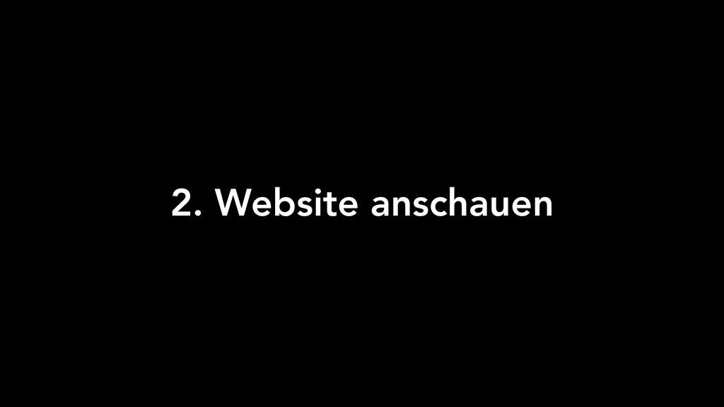 2. Website anschauen