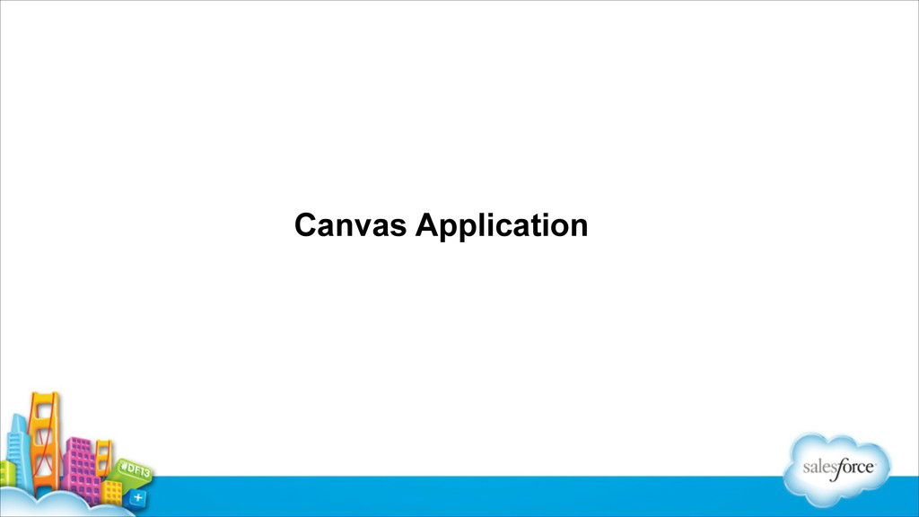 Canvas Application