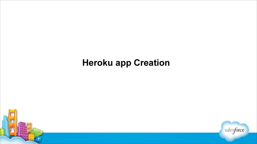 Heroku app Creation