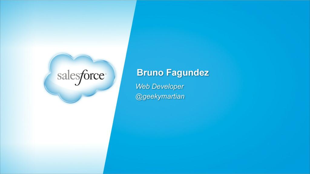 Bruno Fagundez Web Developer @geekymartian