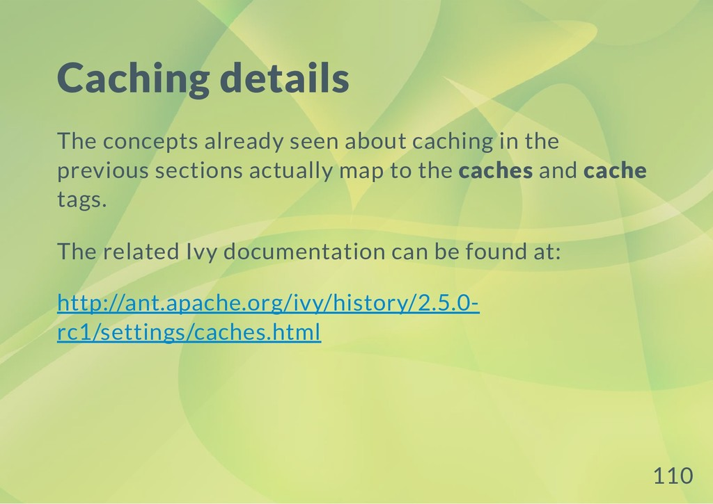 Caching details The concepts already seen about...