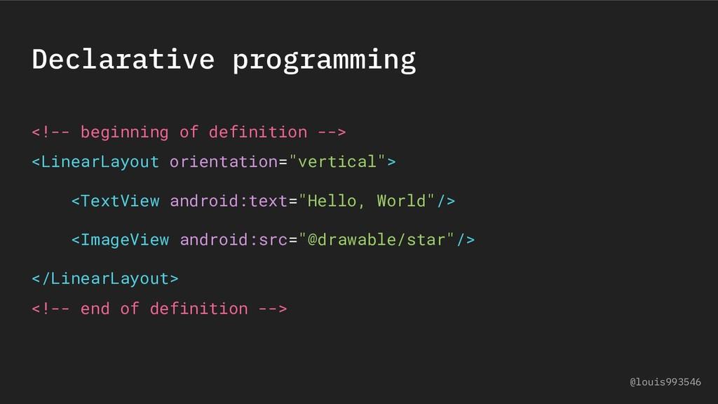 Declarative programming <!-- beginning of defin...