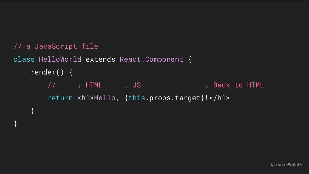// a JavaScript file class HelloWorld extends R...