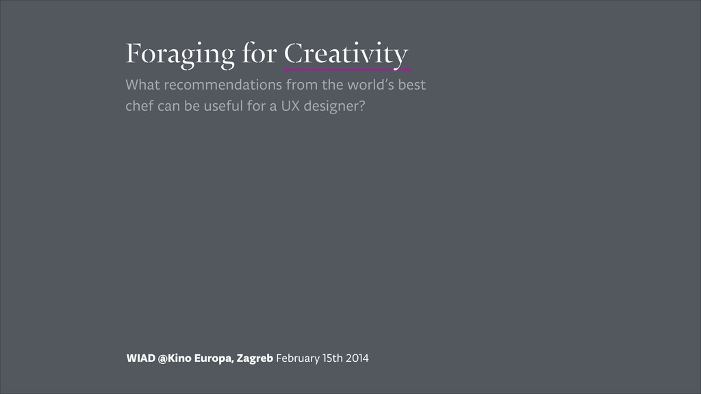 WIAD @Kino Europa, Zagreb February 15th 2014 Fo...