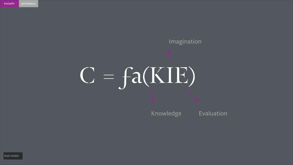 #wiadhr @tinkadoic C = ƒa(KIE) Knowledge Imagin...