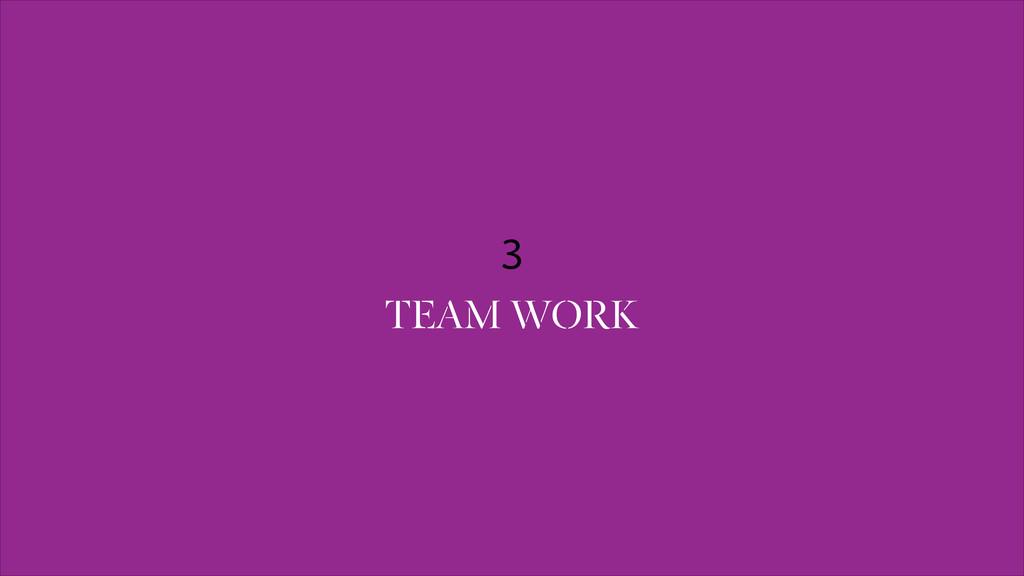 3 TEAM WORK