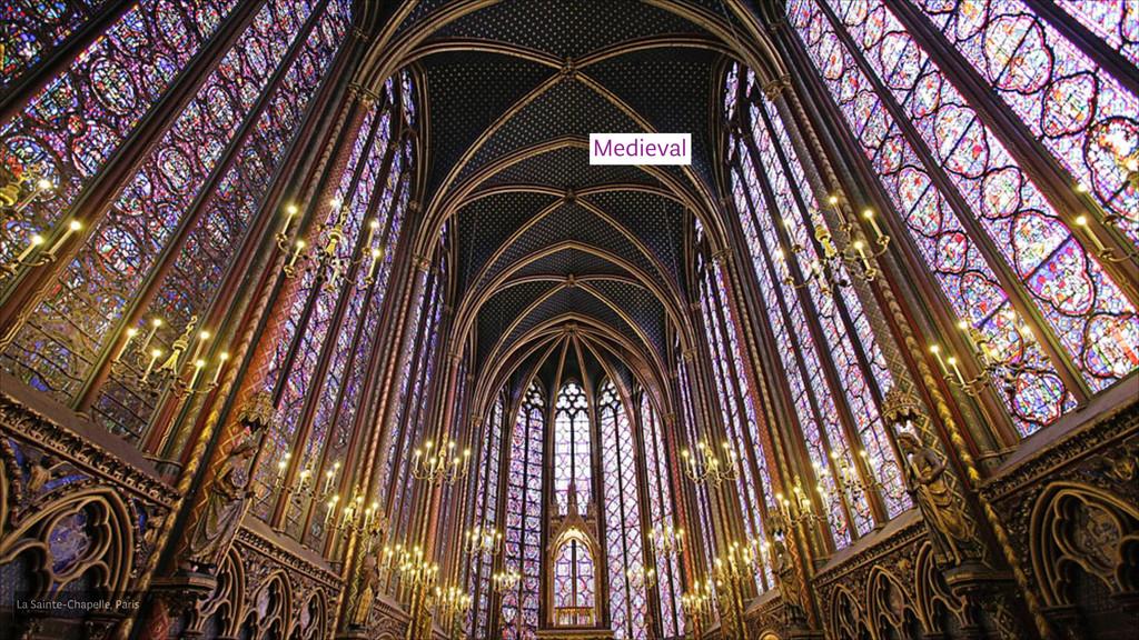 Medieval La Sainte-Chapelle, Paris