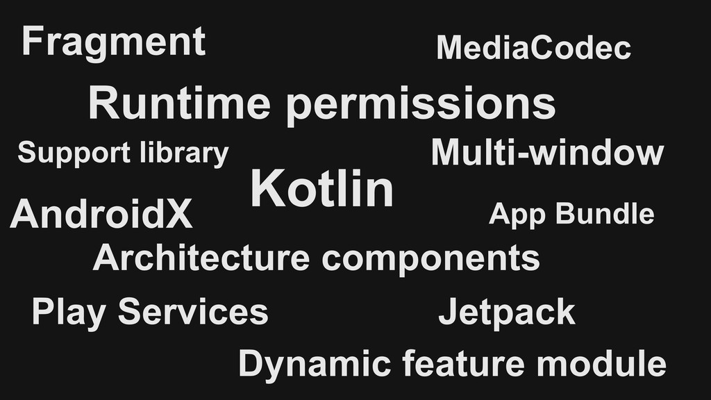 Fragment Support library AndroidX Architecture ...