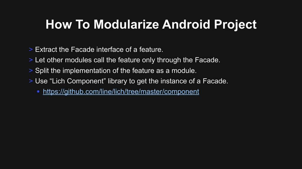 How To Modularize Android Project > Extract the...