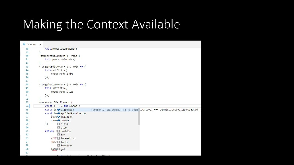 Making the Context Available