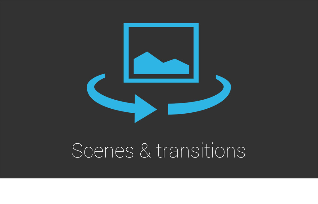 Scenes & transitions