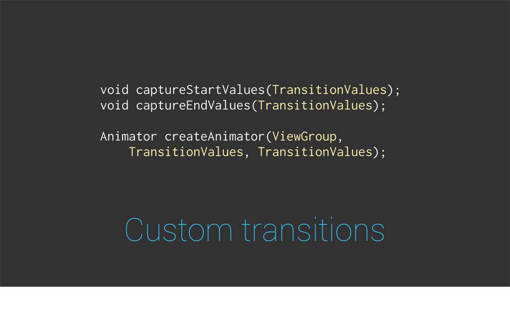 Custom transitions void captureStartValues(Tran...