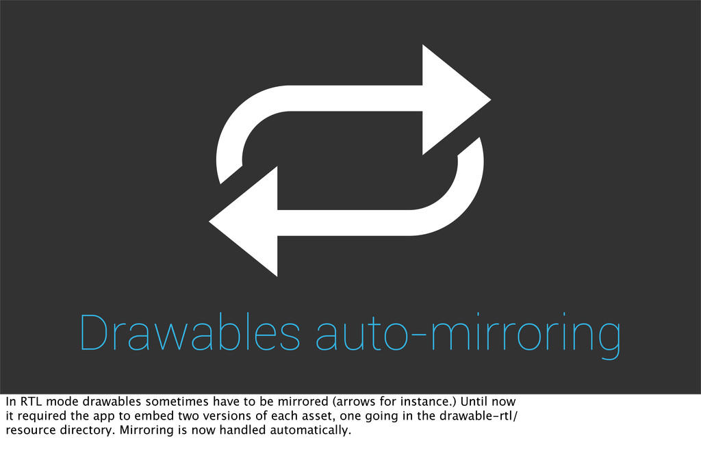 Drawables auto-mirroring In RTL mode drawables ...