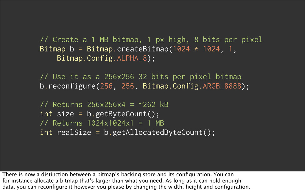 // Create a 1 MB bitmap, 1 px high, 8 bits per ...
