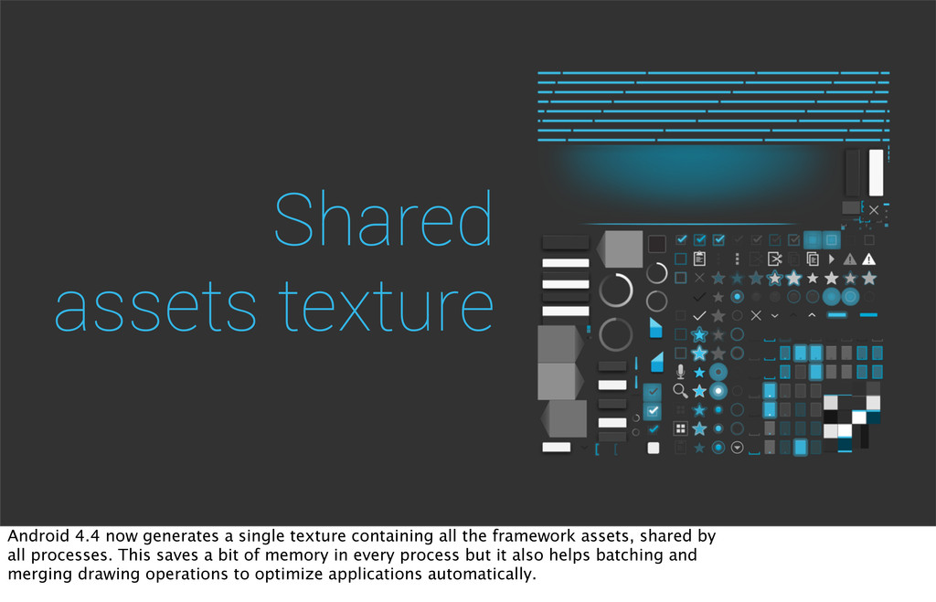 Shared assets texture Android 4.4 now generates...