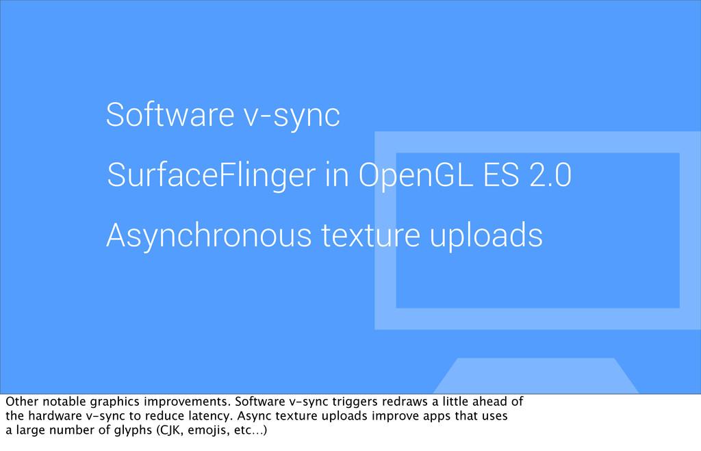 Software v-sync SurfaceFlinger in OpenGL ES 2.0...