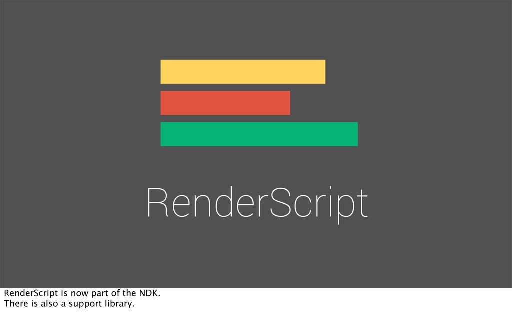 RenderScript RenderScript is now part of the ND...