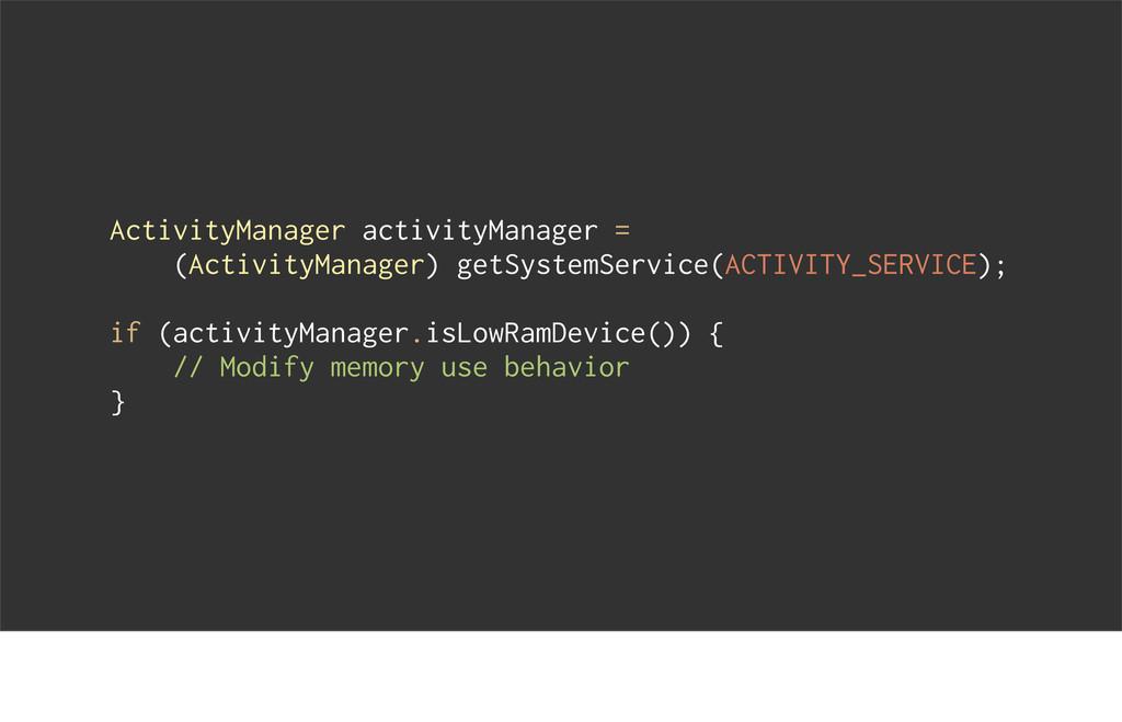 ActivityManager activityManager = (ActivityMana...