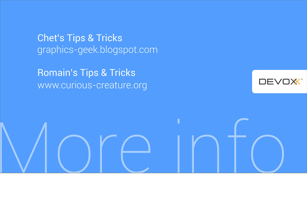 More info Romain's Tips & Tricks www.curious-cr...