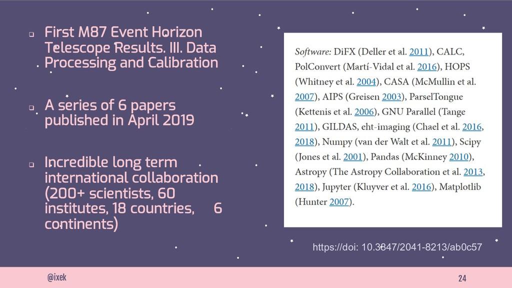 24 @ixek q First M87 Event Horizon Telescope Re...
