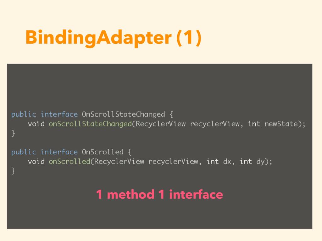 BindingAdapter (1) public interface OnScrollSta...