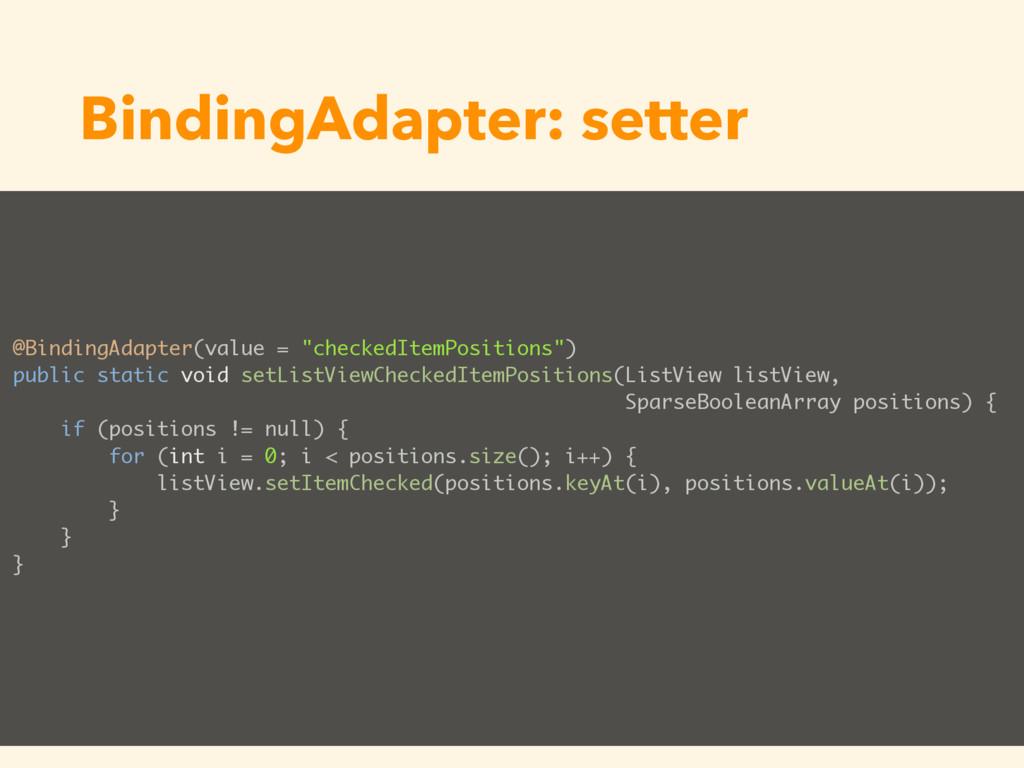 BindingAdapter: setter @BindingAdapter(value = ...