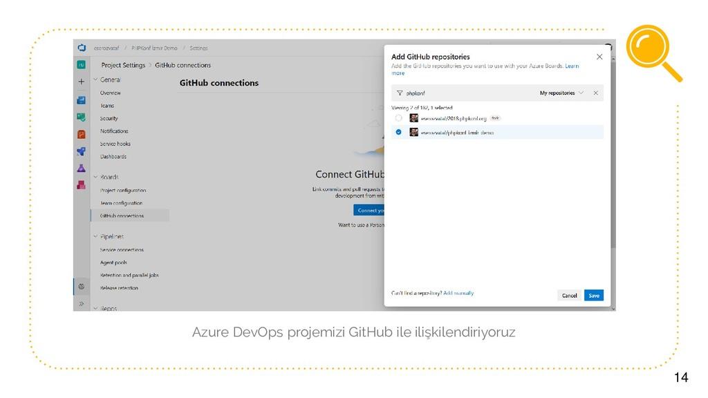 14 Azure DevOps projemizi GitHub ile ilişkilend...