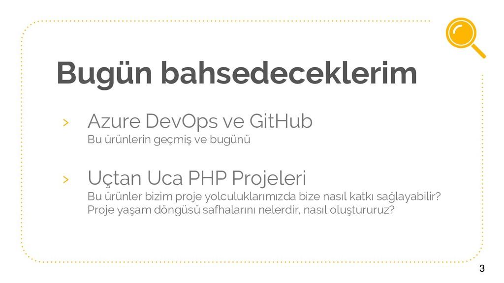 Bugün bahsedeceklerim › Azure DevOps ve GitHub ...