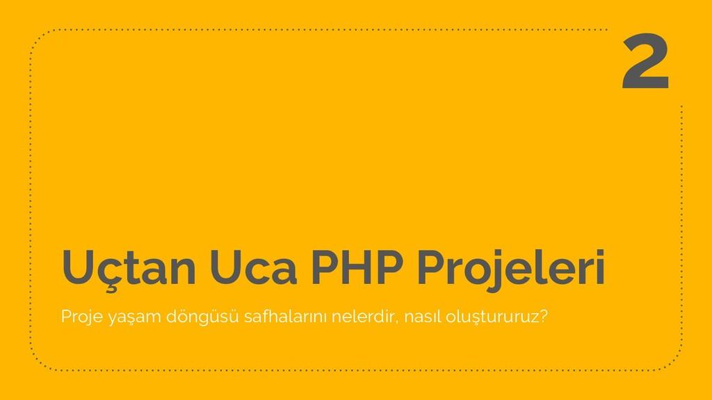 Uçtan Uca PHP Projeleri Proje yaşam döngüsü saf...