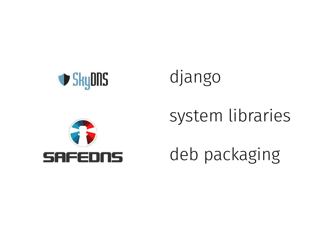 django system libraries deb packaging