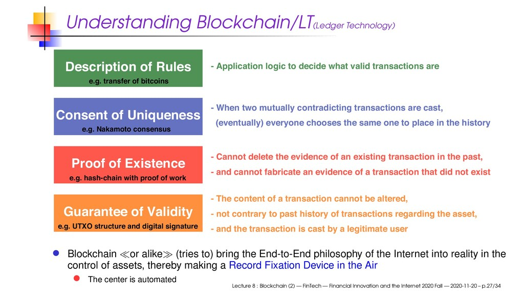 Understanding Blockchain/LT(Ledger Technology) ...