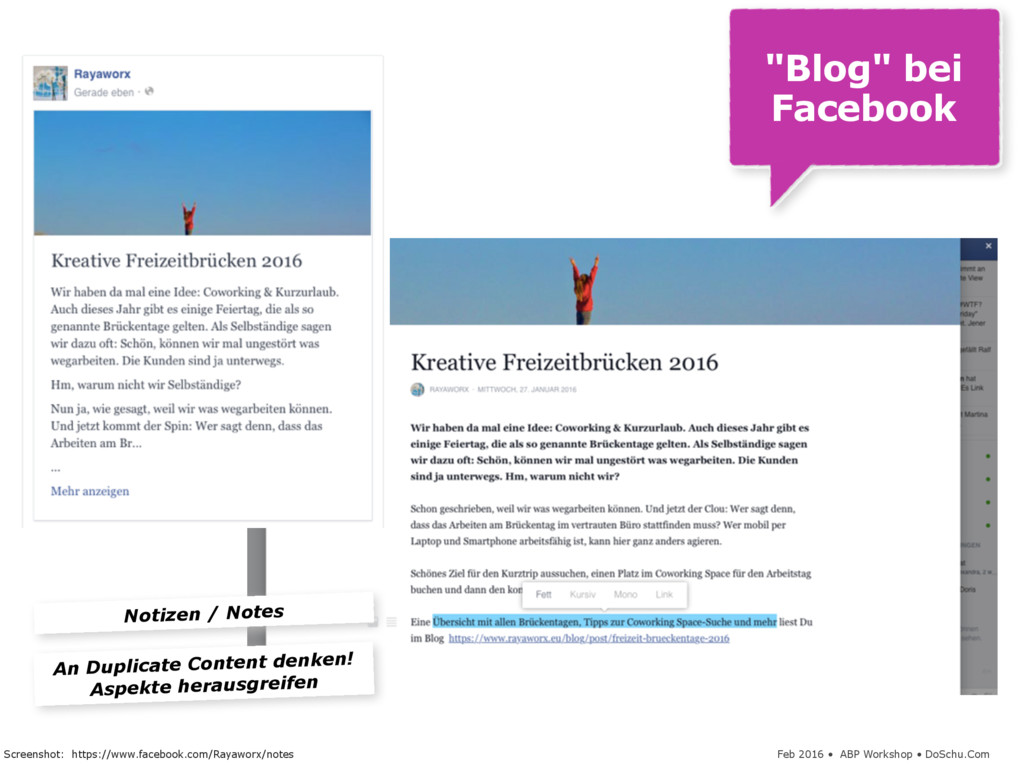 "Feb 2016 • ABP Workshop • DoSchu.Com ""Blog"" bei..."