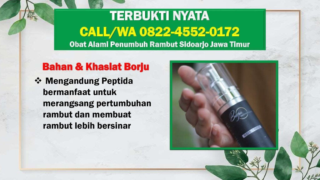 Bahan & Khasiat Borju  Mengandung Peptida berm...