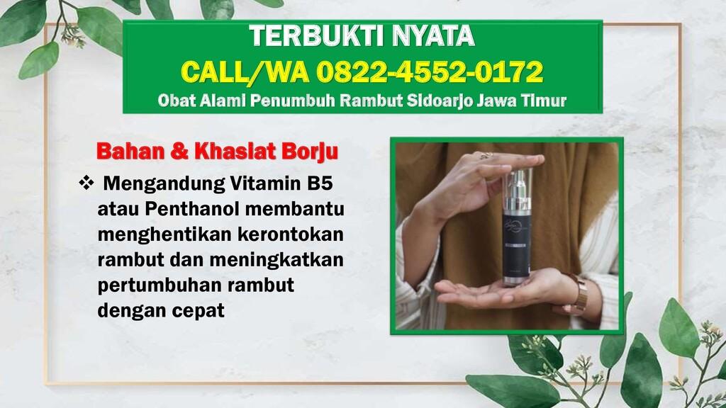 Bahan & Khasiat Borju  Mengandung Vitamin B5 a...