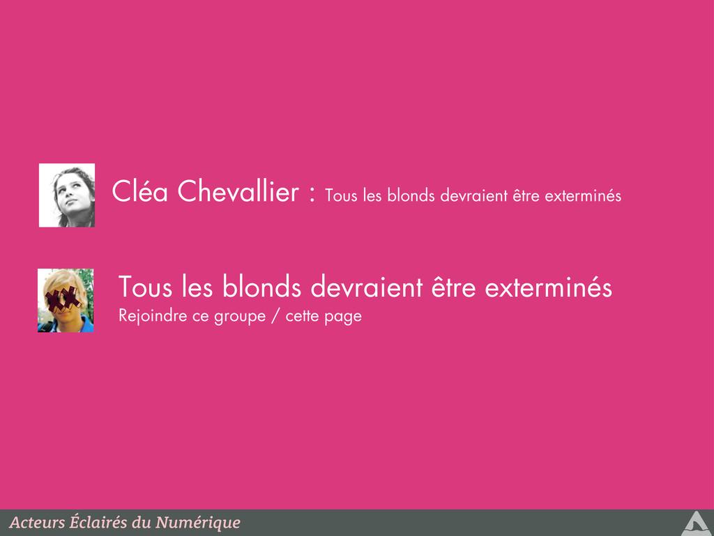 xx Cléa Chevallier : Tous les blonds devraient ...