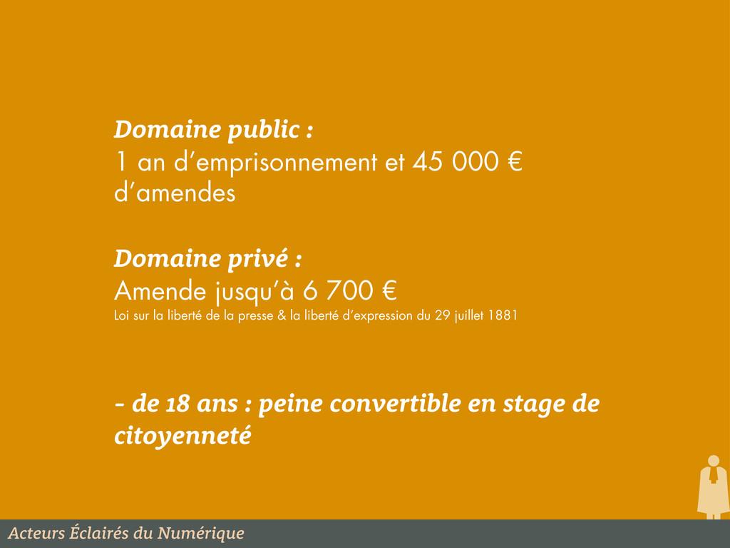 Acteurs Éclairés du Numérique Domaine public : ...