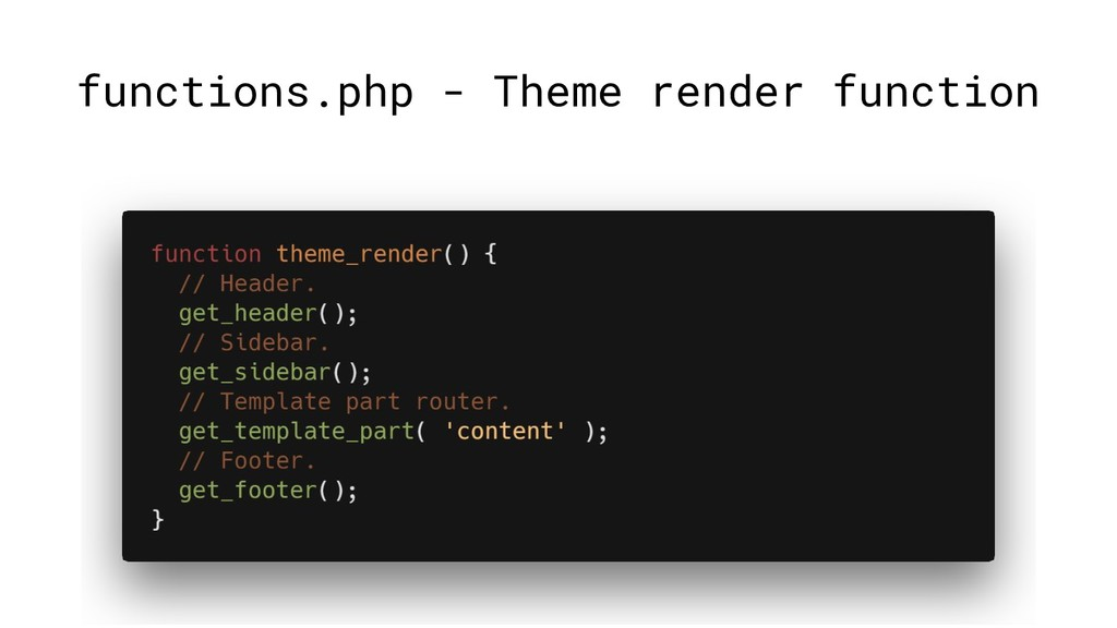 functions.php - Theme render function