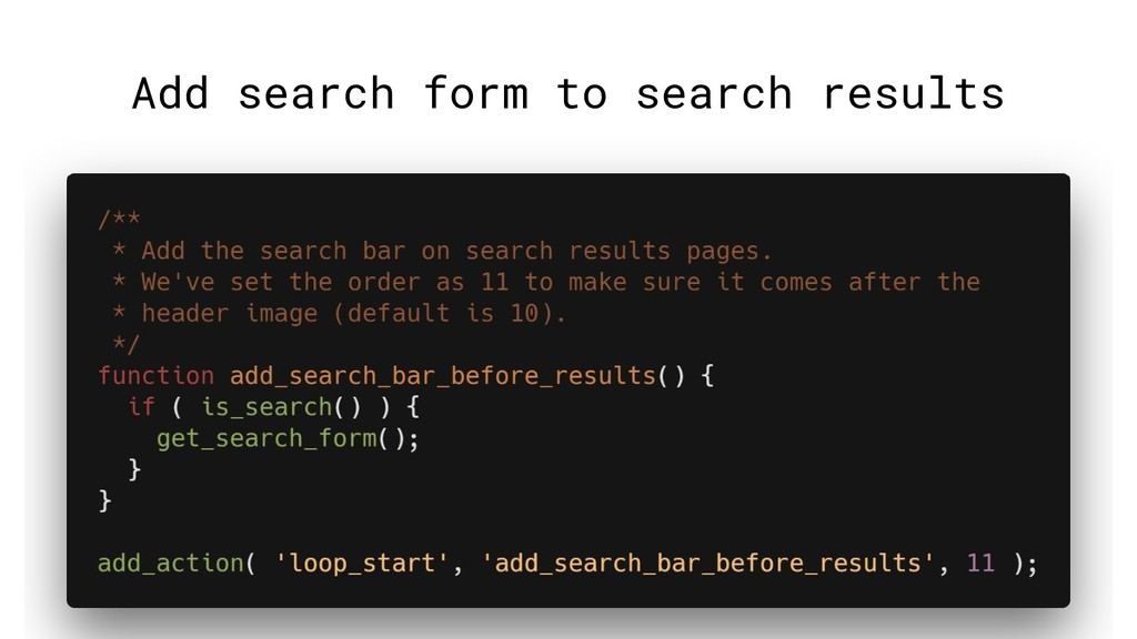 Add search form to search results