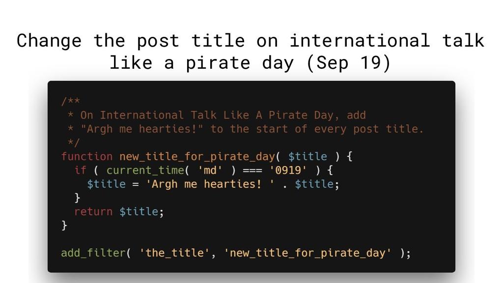 Change the post title on international talk lik...